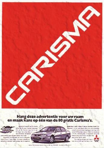 Mitsubishi Carisma Poster